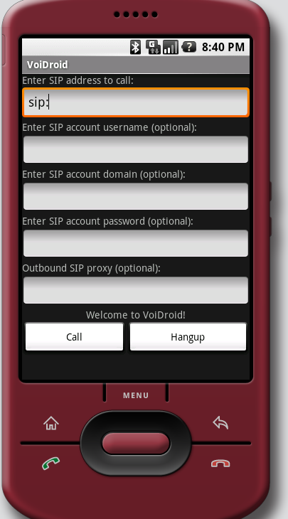VoiDroid (VoIP client for Android)